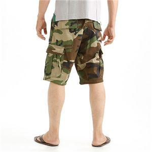 アメリカ軍 BDU カーゴショートパンツ /迷彩服パンツ 【 XLサイズ 】 リップストップ ウッドランド 【 レプリカ 】