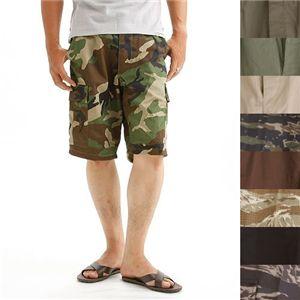 アメリカ軍 BDU カーゴショートパンツ /迷彩服パンツ 【 XSサイズ 】 リップストップ ウッドランド 【 レプリカ 】
