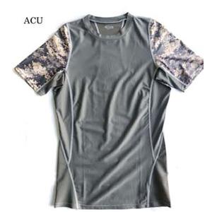 スリムフィットコンプレッションアメリカ軍タクティカルトレーニング吸汗速乾シャツ半袖レプリカ ACU L