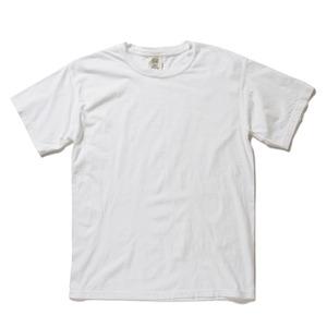 50回ウォツシュ加工ガーメント後染め6.2オンスヘビーウェイトTシャツ ホワイト L h01