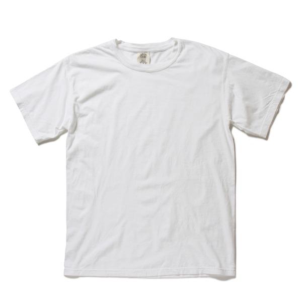 50回ウォツシュ加工ガーメント後染め6.2オンスヘビーウェイトTシャツ ホワイト Lf00