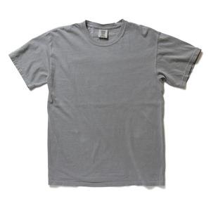 50回ウォツシュ加工ガーメント後染め6.2オンスヘビーウェイトTシャツ グレー XL h01