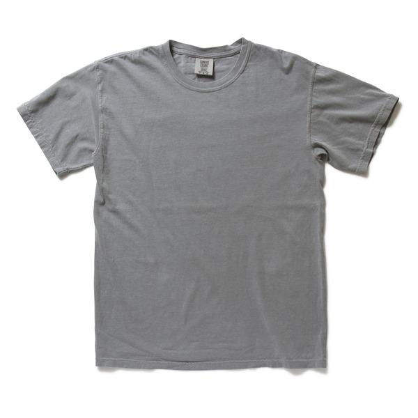 50回ウォツシュ加工ガーメント後染め6.2オンスヘビーウェイトTシャツ グレー Lf00