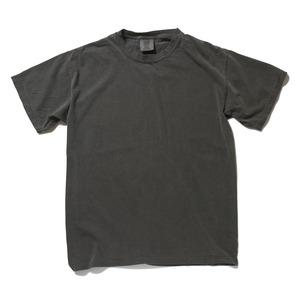 50回ウォツシュ加工ガーメント後染め6.2オンスヘビーウェイトTシャツ ペッパー L h01