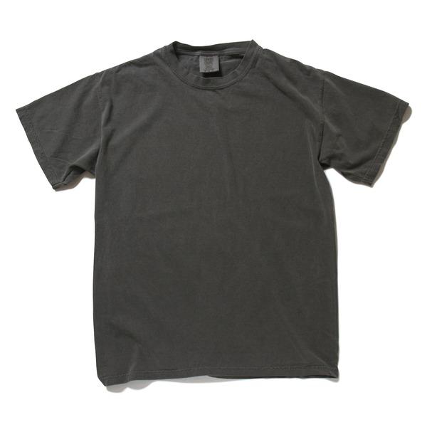 50回ウォツシュ加工ガーメント後染め6.2オンスヘビーウェイトTシャツ ペッパー Lf00