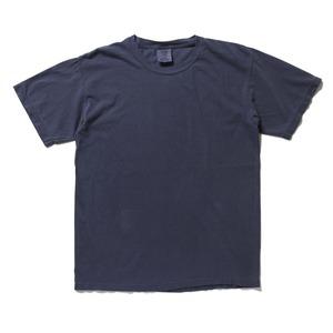 50回ウォツシュ加工ガーメント後染め6.2オンスヘビーウェイトTシャツ ネイビー L h01