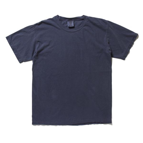50回ウォツシュ加工ガーメント後染め6.2オンスヘビーウェイトTシャツ ネイビー Lf00