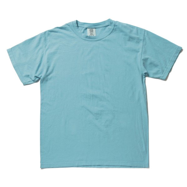 50回ウォツシュ加工ガーメント後染め6.2オンスヘビーウェイトTシャツ ラグンブルー Sf00