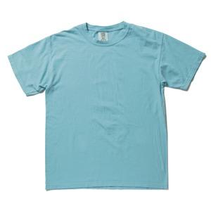 50回ウォツシュ加工ガーメント後染め6.2オンスヘビーウェイトTシャツ ラグンブルー L h01