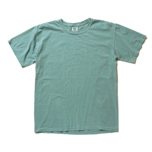 50回ウォツシュ加工ガーメント後染め6.2オンスヘビーウェイトTシャツ シーフォーム XL h01