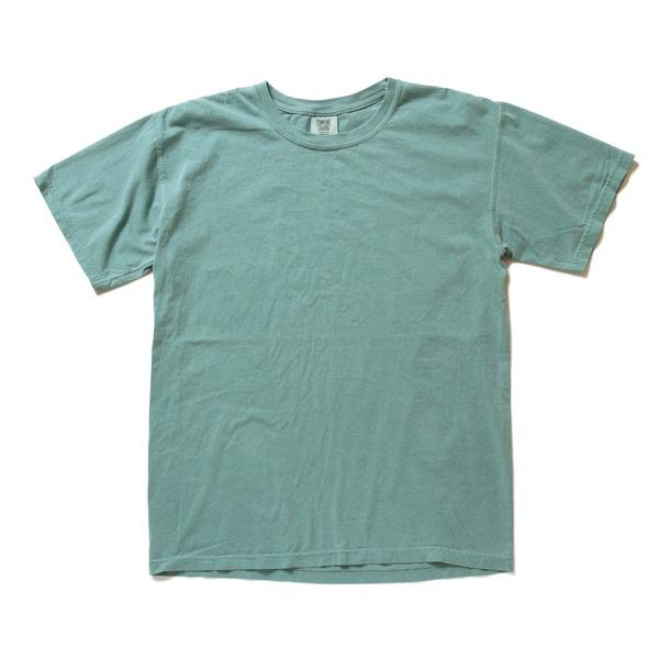 50回ウォツシュ加工ガーメント後染め6.2オンスヘビーウェイトTシャツ シーフォーム XLf00