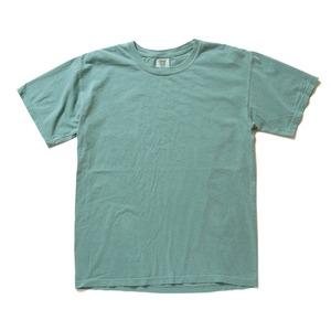 50回ウォツシュ加工ガーメント後染め6.2オンスヘビーウェイトTシャツ シーフォーム S h01