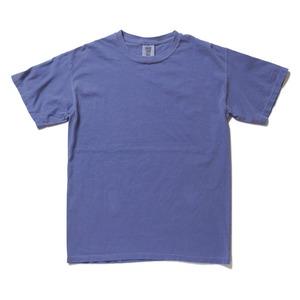 50回ウォツシュ加工ガーメント後染め6.2オンスヘビーウェイトTシャツ フローブルー M
