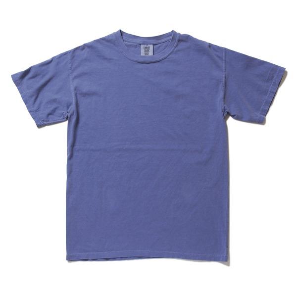 50回ウォツシュ加工ガーメント後染め6.2オンスヘビーウェイトTシャツ フローブルー Mf00