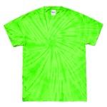スパイダータイダイTシャツ スパイダーライム XL