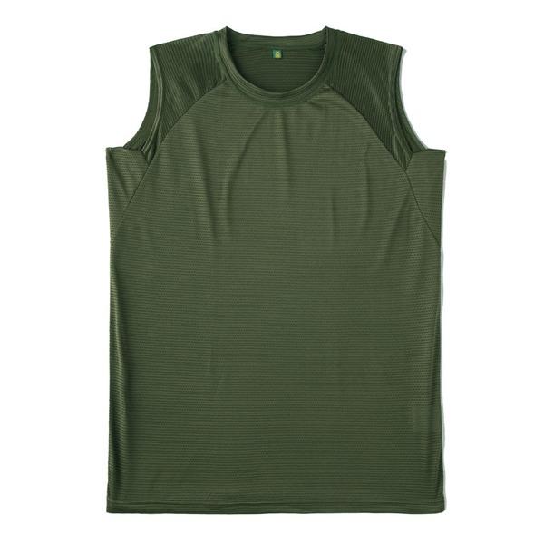 J.S.D.F.(自衛隊)吸汗速乾両面メッシュスリーブレスシャツ2枚SET オリーブ L