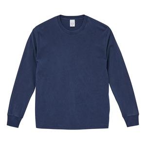 ピグメントダイロングスリーブ5.6オンス長袖Tシャツ ビンテージネイビー XXL