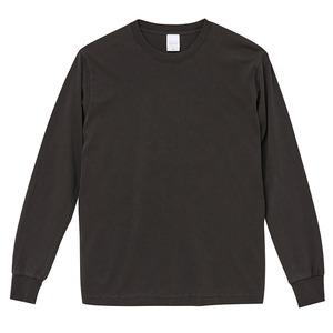 ピグメントダイロングスリーブ5.6オンス長袖Tシャツ ビンテージブラックー S