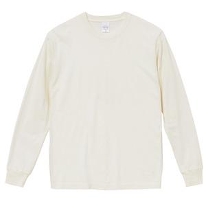 ピグメントダイロングスリーブ5.6オンス長袖Tシャツ ビンテージオフホワイト M