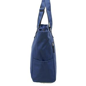 手提げの長さが最大72cm調整出来る600Dポリエステルトートバッグ 紺