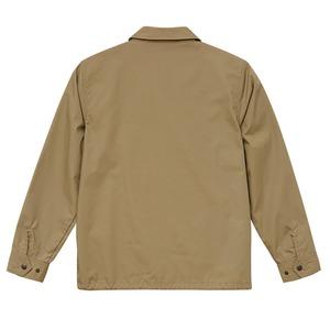 テカリを抑えた綿混・撥水加工、防風加工、裏地付コーチジャケット ベージュ XL