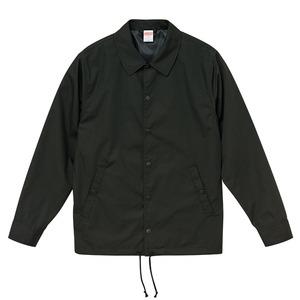 カリを抑えた綿混・撥水加工、防風加工、裏地付コーチジャケット ブラック XL