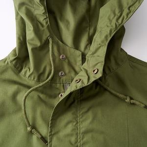 綿混・撥水加工、防風加工、M51モッズコート ブラック M