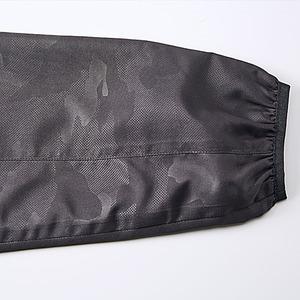 シャカシャカと音がしない撥水&防風加工・リフレクター・裏地付フルジップパーカー ブラック M f05