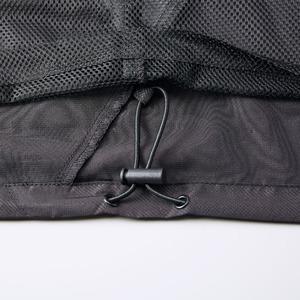 シャカシャカと音がしない撥水&防風加工・リフレクター・裏地付フルジップパーカー ブラック M f06