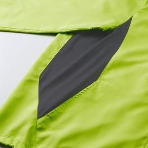 シャカシャカと音がしない撥水&防風加工・リフレクター・裏地付フルジップパーカー ライムエイド XL h03