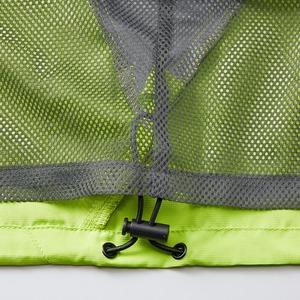 シャカシャカと音がしない撥水&防風加工・リフレクター・裏地付フルジップパーカー ライムエイド M f04