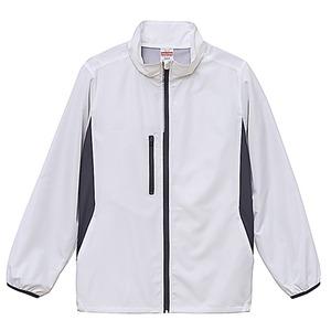 シャカシャカと音がしない撥水&防風加工・リフレクター・裏地付スタンドジップジャケット ホワイト XL h01