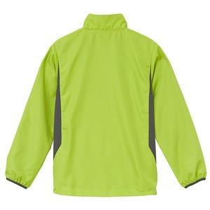 シャカシャカと音がしない撥水&防風加工・リフレクター・裏地付スタンドジップジャケット ライムエイド L h02