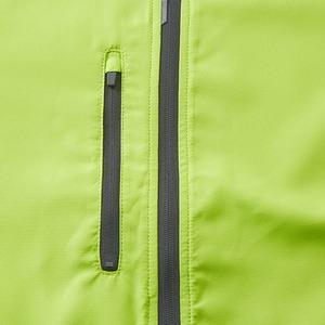 シャカシャカと音がしない撥水&防風加工・リフレクター・裏地付スタンドジップジャケット ライムエイド L f04