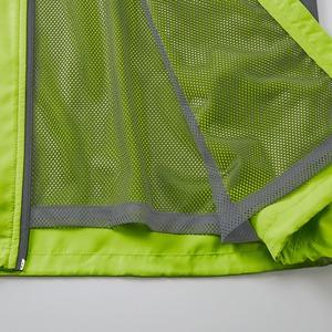 シャカシャカと音がしない撥水&防風加工・リフレクター・裏地付スタンドジップジャケット ライムエイド M f06