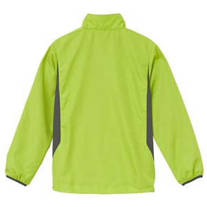 シャカシャカと音がしない撥水&防風加工・リフレクター・裏地付スタンドジップジャケット ライムエイド S h02