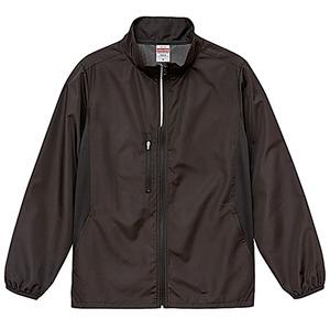 シャカシャカと音がしない撥水&防風加工・リフレクター・裏地付スタンドジップジャケット ブラック S