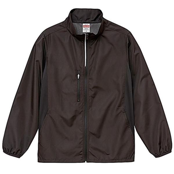 シャカシャカと音がしない撥水&防風加工・リフレクター・裏地付スタンドジップジャケット ブラック XLf00