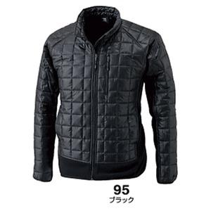 マイクロリップブロック中綿キルティング両脇フリース防寒ジャケット ブラック L 商品画像