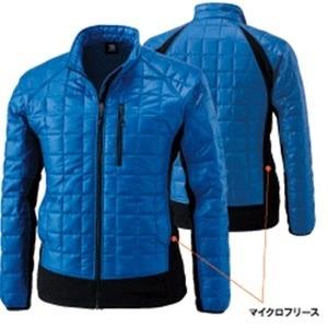 マイクロリップブロック中綿キルティング両脇フリース防寒ジャケット ロイヤルブルー L 商品画像