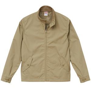 テカリを抑えた綿混・撥水加工、防風加工、裏地付スウィンブトップジャケット ベージュ XL