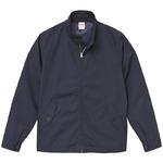 テカリを抑えた綿混・撥水加工、防風加工、裏地付スウィンブトップジャケット ネイビー S