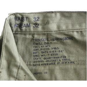 アメリカ軍M47ヘリボーンベーカーパンツレプリカ オリーブ 33(84cm)