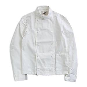 スウェーデン軍放出コックジャケット ホワイト未使用デットストック《52(L相当)》