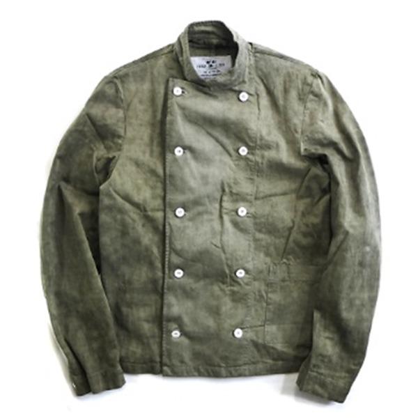 スウェーデン軍放出コックジャケット後染め未使用デットストック  オリーブ 50150(M相当)