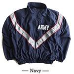 US ARMY IPFU 防風撥水加工大型リフレクタージャケットレプリカ ネイビー L