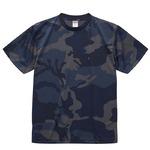 UVカット・吸汗速乾・4.1オンス ドライアスレッチック カモフラージュTシャツ2枚セット  L  ネイビーウッドランド×ネイビーウッドランド
