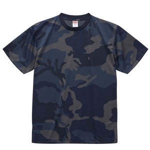 UVカット・吸汗速乾・4.1オンス ドライアスレッチック カモフラージュTシャツ2枚セットXL ネイビーウッドランド×ネイビーウッドランド