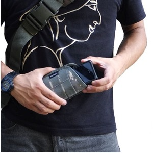 ミリタリー調スマートフォンケース ブラック
