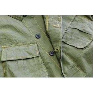 アメリカ軍ジャングルファーティングリップストップジャケット4thモデルレプリカ オリーブ M
